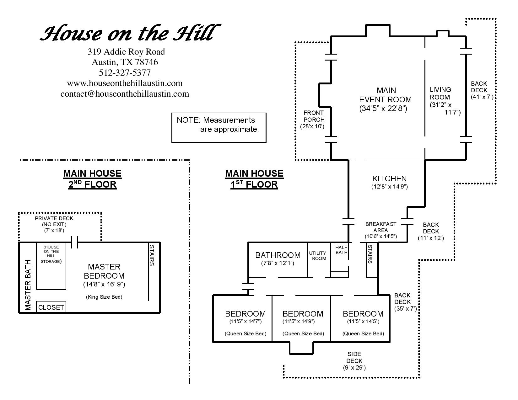 Maps Floor Plans House On The Hill